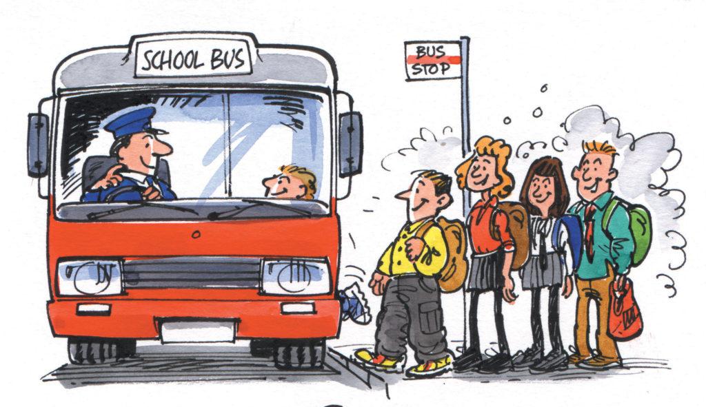 taking bus
