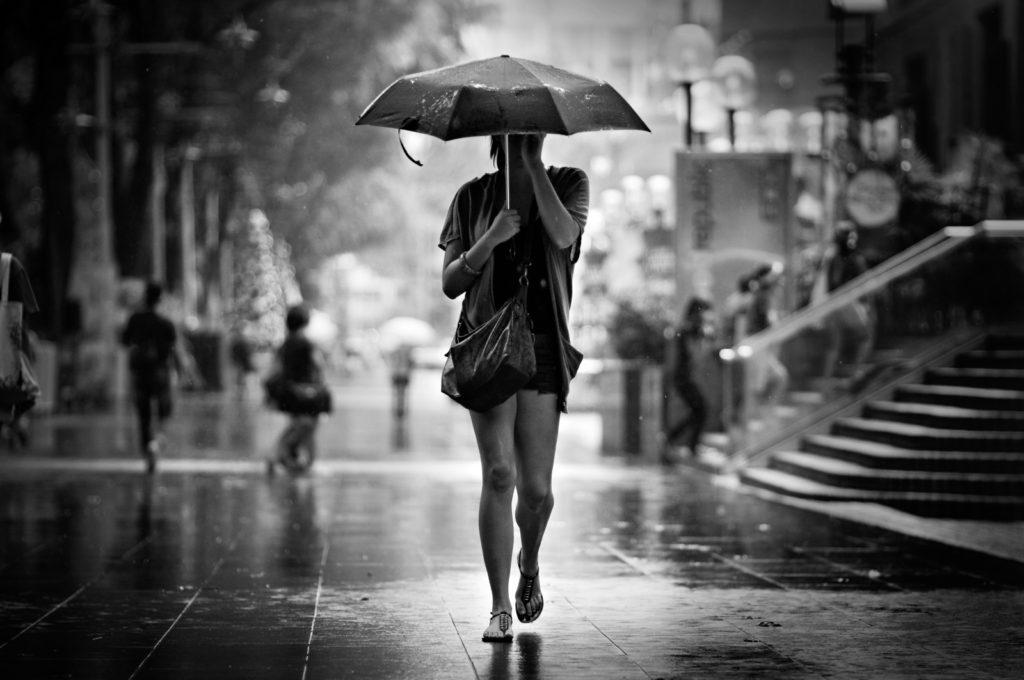 Chinese language learning - under the bad weather