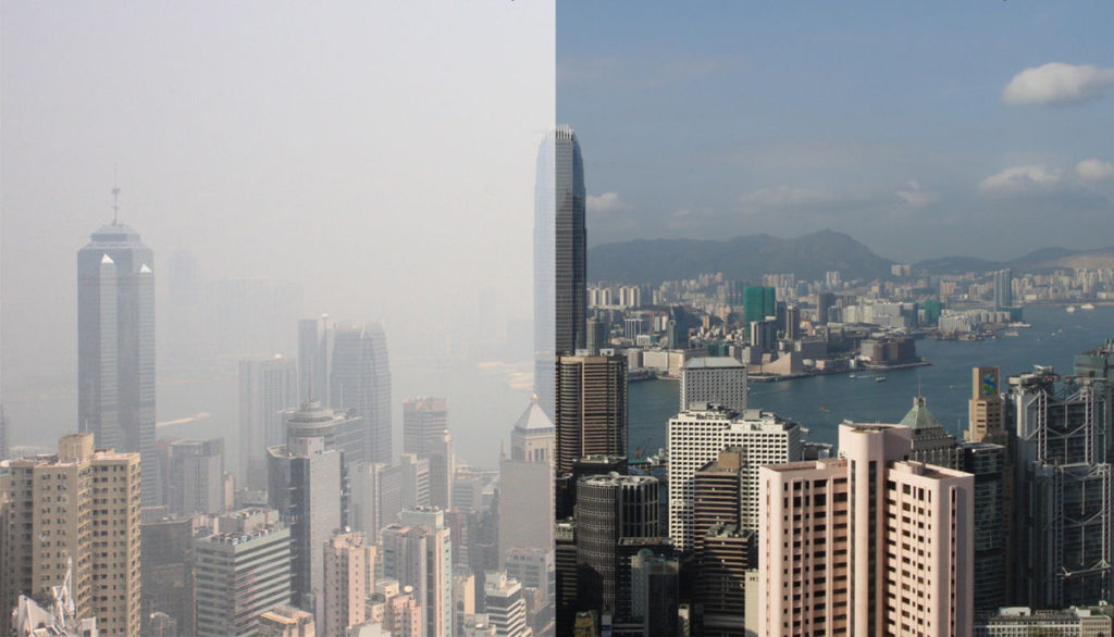 mandarin language course - air pollution in Hong Kong