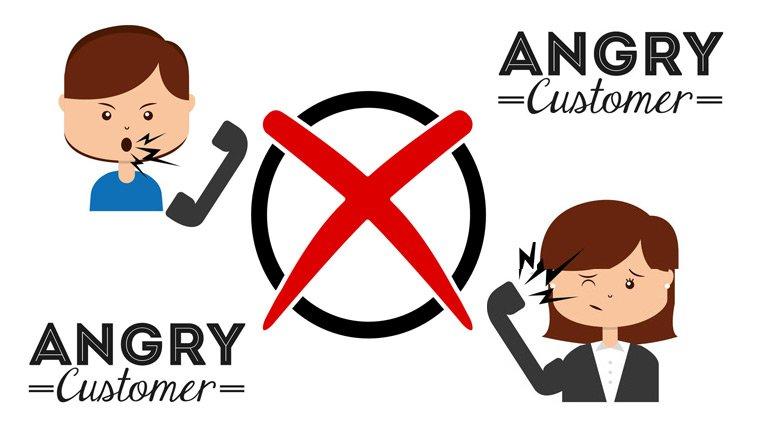 An angry customer