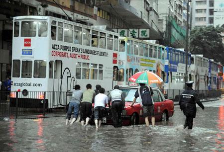 Typhoon No.8 and Heavy Rain in Hong Kong