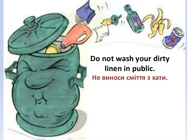 Learn English idioms - Wash your dirty linen in public
