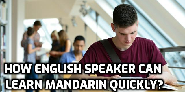How English Speaker can Learn Mandarin Quickly