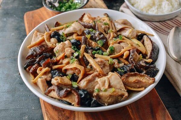 Cantonese Chicken with Mushrooms Recipe